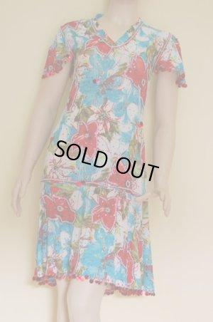 画像1: 在庫処分につき特別価格! 花柄ミラーヤドレス(マルチドレス)