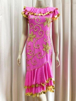 画像1: イスカンダラーニドレス(花柄装飾)ベール、フェイスカバー付き