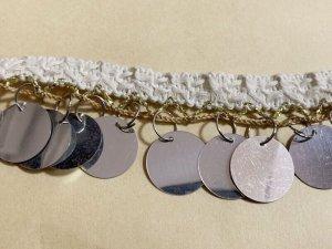画像3: 郵送OK!プラスチックコインスパンコール 装飾テープ(オフホワイト×シルバー)50cm