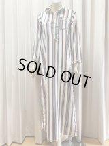 Fifi Abdoスタイル ストライプバラディドレス(襟シャツタイプ)135cm丈
